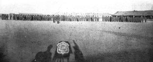 Coraceros de Puan posando para la foto en el campo de maniobras, campa__a militar de 1879. Inv.291092